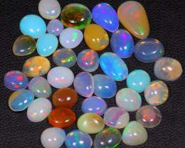 18.22Ct / 37Pcs Ethiopian Welo Polished Opal Parcel Lot