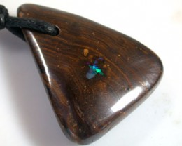 FREE SHIPPING BOULDER OPAL  PENDANT 49.5 CARATS K1384