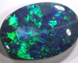 N2 BLACK OPAL POLISHED STONE  6.79CTS TBO-3162