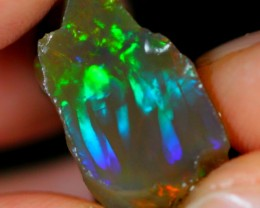 16Ct Greenish Red Ethiopian Welo Rough Specimen Rough Opal