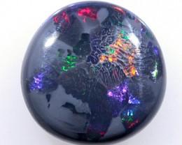 1.3ct 7.5mm Solid Lightning Ridge Black Opal [LO-653]