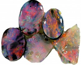 3.5 CTS PARCEL BLACK OPAL ROUGH-RED/PINK [BR5331]