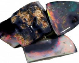 12.40 CTS PARCEL BLACK OPAL ROUGH-RED/PINK [BR5334]
