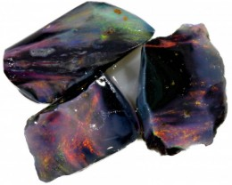 5.55 CTS PARCEL BLACK OPAL ROUGH-RED/PINK [BR5338]