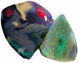 8.65 CTS  BLACK OPAL ROUGH STONES -RED/PINK [BR5340]