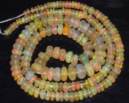 44.35 Ct Natural Ethiopian Welo Opal Beads Play Of Color