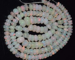 54.80 Ct Natural Ethiopian Welo Opal Beads Play Of Color