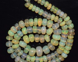 55.40 Ct Natural Ethiopian Welo Opal Beads Play Of Color