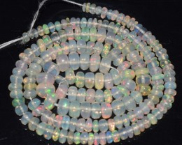 35.20 Ct Natural Ethiopian Welo Opal Beads Play Of Color