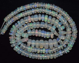 41.95 Ct Natural Ethiopian Welo Opal Beads Play Of Color