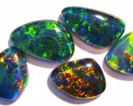 5 Gem Grade Australian Opal Freeform Triplets