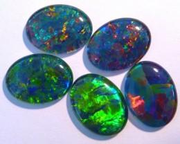 Parcel of 5 Gem Grade Australian Opal Triplets, 16x12mm