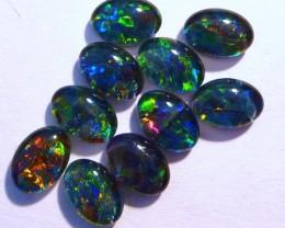 Parcel of 10 Gem Grade Australian Opal Triplets, 7x5mm