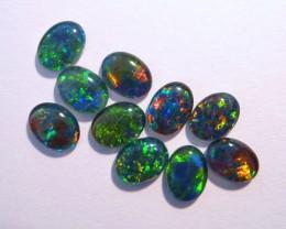 Parcel of 10 Gem Grade Australian Opal Triplets, 8x6mm