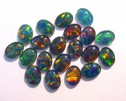Parcel of 20 Gem Grade Australian Opal Triplets, 8x6mm