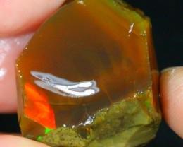 36Ct Green Color Play Ethiopian Welo Rough Specimen Rough Opal