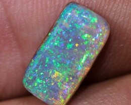 2.8ct 12x6mm Pipe Wood Fossil Boulder Opal  [LOB-528]