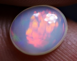 BRILLIANT MILKY WHITE MICRO HONEYCOMB RED FIRE WELO OPAL 1.00 CRT