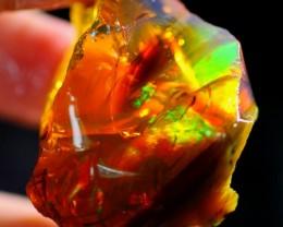 82Ct ContraLuz Effect Ethiopian Welo Rough Specimen Rough Opal