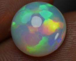 3.90 CT Round shape Hexagonal opal
