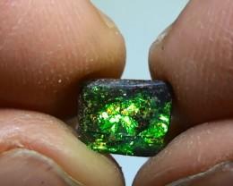 1.90 ct Boulder Opal Natural Gem Green Gold Color