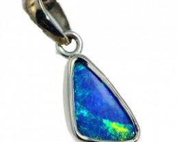 Boulder  Opal set in 18k  White Gold Pendant  SB669