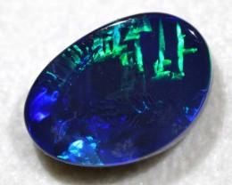 3.93cts Chinese Writing Black Opal (R2877)