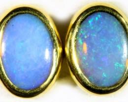 Crystal Opal set in 18k Gold Earrings SB710