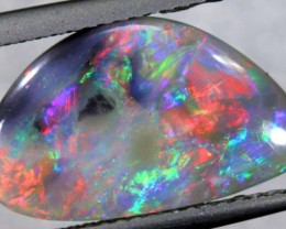 N2-  2.5CTS QUALITY BLACK SOLID OPAL LIGHTNINGRIDGE INV-752