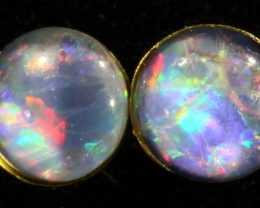 Cute Triplet Opal 18k Gold Earrings  SB 733