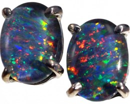 Crystal Opal Triplet set in 18k Gold Earrings SB673