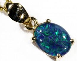 Cute Triplet Opal 9k  Gold  Pendant SB 755