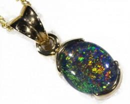 Cute Triplet Opal 9k   Gold  Pendant SB 757