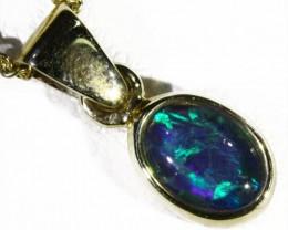 Cute Triplet Opal 9k   Gold  Pendant SB 762