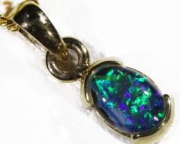 Cute Triplet Opal 9k   Gold  Pendant SB 766