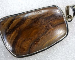 79 CTS BOULDER OPAL STERLING SILVER PENDANT OF-1965