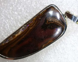 63 CTS BOULDER OPAL STERLING SILVER PENDANT OF-1967