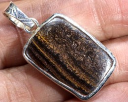 22 CTS BOULDER OPAL STERLING SILVER PENDANT OF-1972