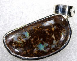 23 CTS BOULDER OPAL STERLING SILVER PENDANT OF-1978