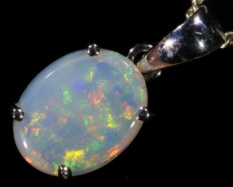 Cute Solid Crystal Opal 18k Gold Pendant SB 769