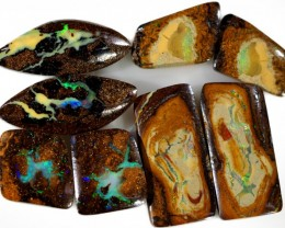 32.75 CTS WELL POLISHED BOULDER OPAL FOUR PAIRS PARCEL [BMA4458]