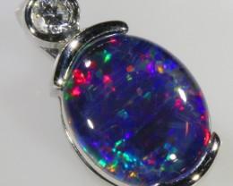 1.2CTS Gem Opal Triplet Set in Silver Pendant  CF 950