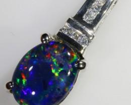 1.2CTS Gem Opal Triplet Set in Silver Pendant  CF 954