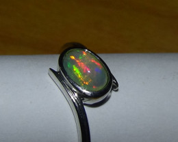 Opal Sz 6.75 Woman's Sterling Silver Ring