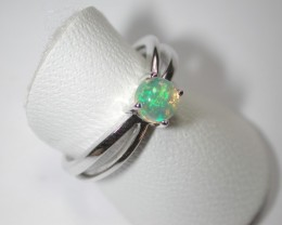 11.0 ct Stunning 925 Silver Bright Multi Color Welo Ring