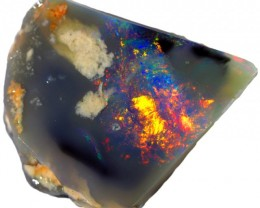 4.00 CTS  BLACK OPAL ROUGH-RED [BR5440] SAFE