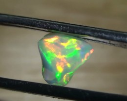 2.0 ct Ethiopian Gem Color Carved Freeform Welo Opal