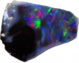 1.55 CTS  BLACK OPAL ROUGH-RED THIN [BR5453] SAFE