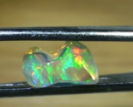 2.20 ct Ethiopian Gem Color Carved Freeform Welo Opal