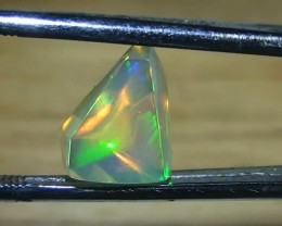3.10 ct Ethiopian Gem Color Freeform Facet Welo Opal